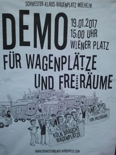 Demo Schwester Klaus Wagenplatz
