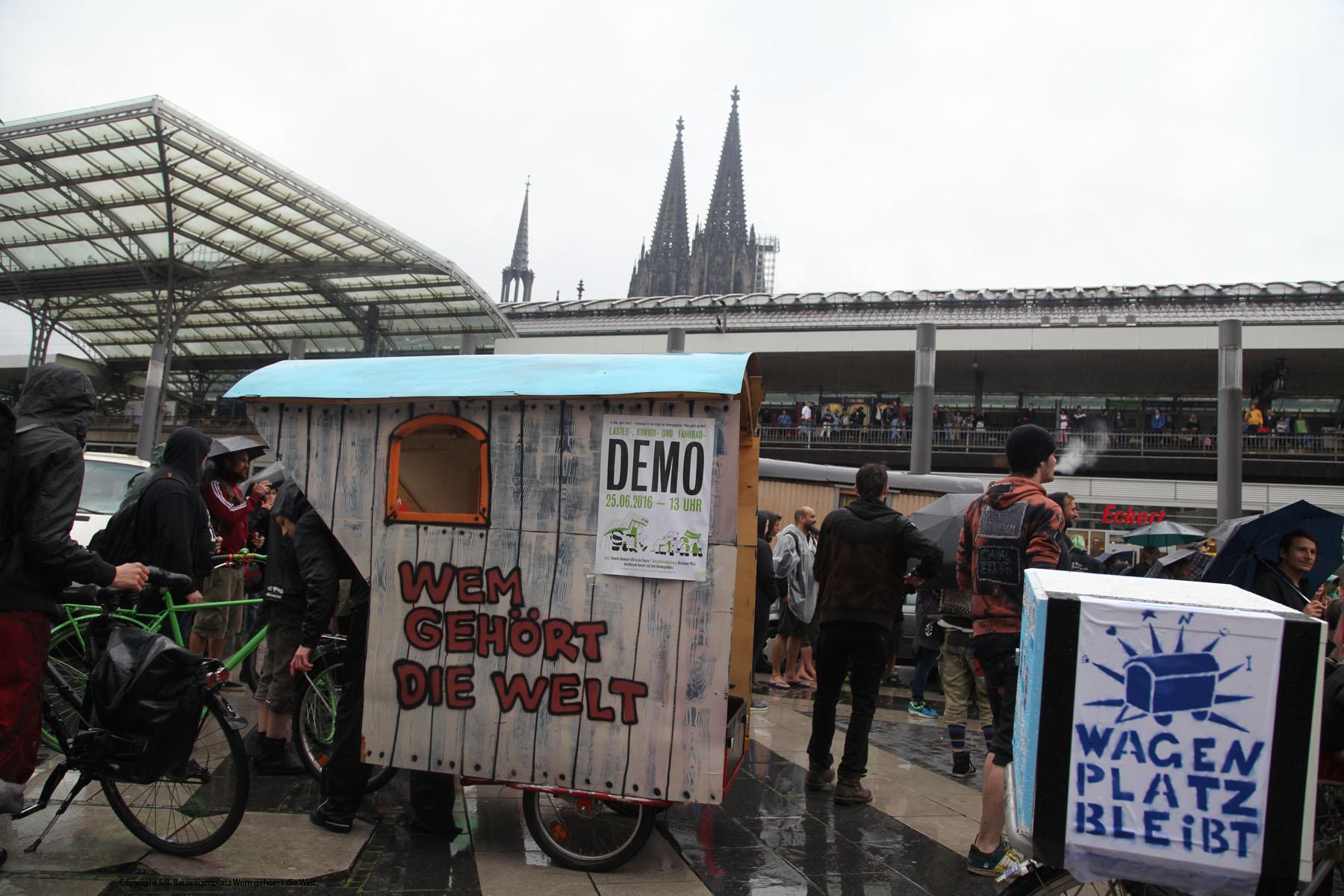 Wagenplatz Köln Demo 2016