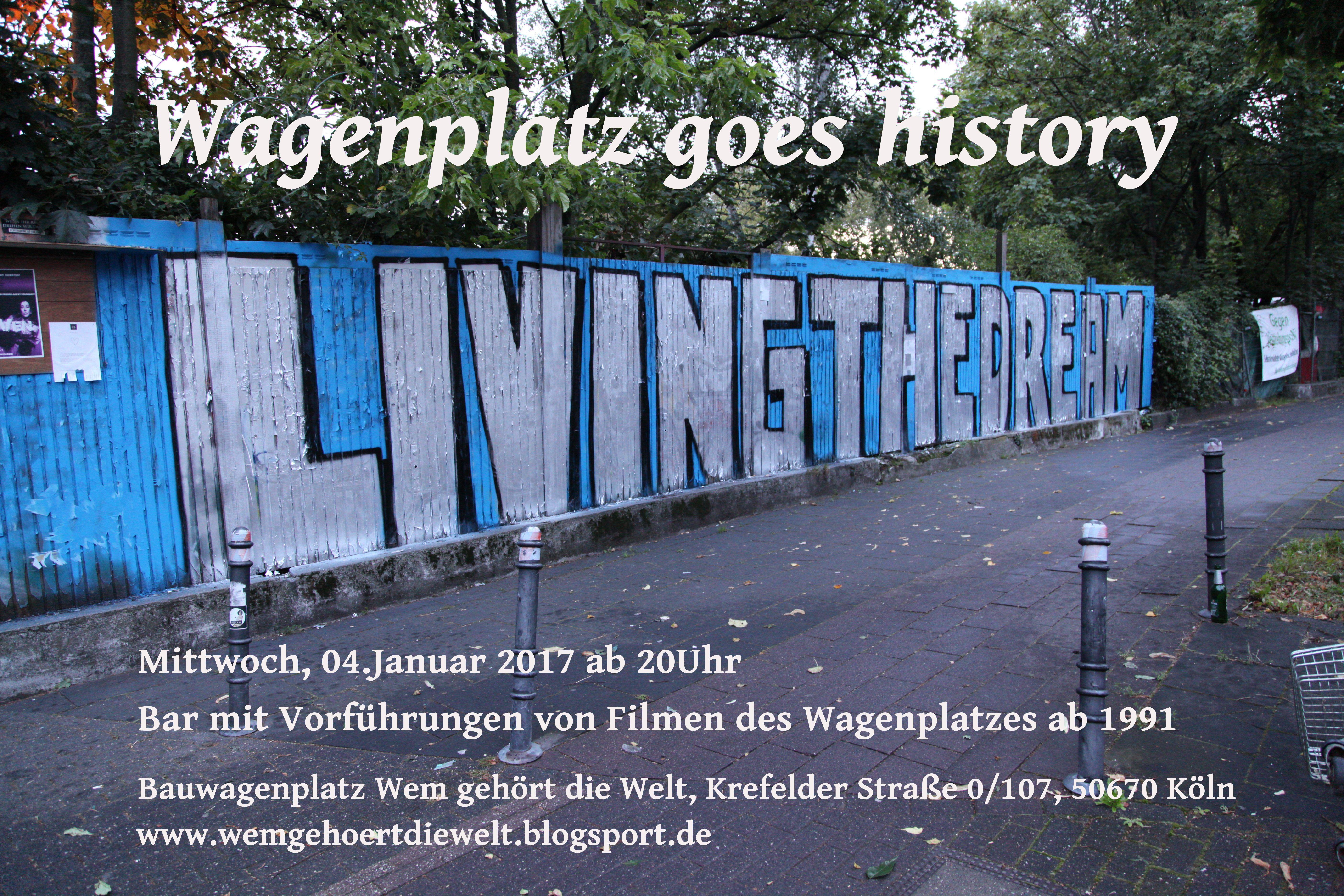 Wagenplatz goes history Filmabend